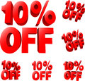 10 Off Discount Sale Sign Royalty Free Stock Photography - 36725847