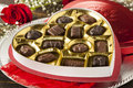 Box Of Gourmet Chocolates For Valentine S Day Royalty Free Stock Photo - 36733145