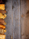 Border Of Various Bread Stock Photo - 36747400