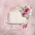 Vintage Background With Love Card Stock Images - 36751564