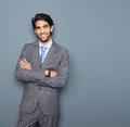 Close Up Portrait Of A Cheerful Young Businessman Stock Image - 36755861