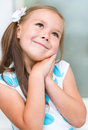 Little Girl Is Daydreaming Stock Photos - 36778873