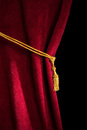 Red Velvet Curtain With Tassel Royalty Free Stock Image - 36780996