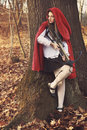 Little Red Riding Hood Waits Her Prey Stock Images - 36781994