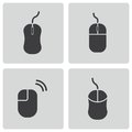 Vector Black Computer Mouse Icons Set Stock Photography - 36786002
