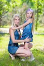 Blond Woman With Girl Royalty Free Stock Images - 36786719