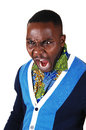Black Man Screaming. Royalty Free Stock Image - 36787826