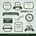 Vintage Premium Quality And Guarantee Labels And Frames Royalty Free Stock Photo - 36792095