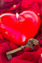 Key With The Heart As A Symbol Of Love Stock Photography - 36798732