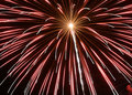 Red Fireworks Stock Images - 3680934