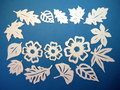 White Leaves And Flowers Pattern. Paper Cutting. Royalty Free Stock Photography - 36800247