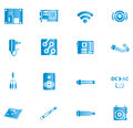 Blue Computer Icons Royalty Free Stock Images - 36802369