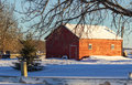 Country Barn Winter Afternoon Royalty Free Stock Images - 36802759