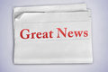 Great News Word Royalty Free Stock Image - 36803556