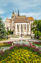 Cathedral Of St. Elizabeth With Garden Royalty Free Stock Photos - 36808438