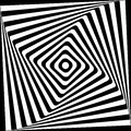 Abstract Square Spiral Black And White Pattern Royalty Free Stock Photo - 36825045