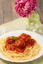 Pasta With Meatballs Royalty Free Stock Photo - 36832545