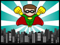 Little Hero Flying Royalty Free Stock Image - 36835136