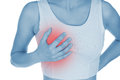 Sore Breast, Shown Red, Keep Handed Royalty Free Stock Photography - 36852667