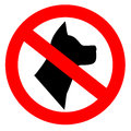 No Dogs Allowed Stock Image - 36853351