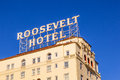 Facade Of Famous Historic Roosevelt Hotel In Hollywood Royalty Free Stock Photography - 36853507