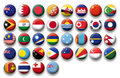 Vector Set Of Buttons Flags Of Oceania And Pacific Royalty Free Stock Images - 36854329