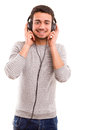 Man Listening To Music Royalty Free Stock Photography - 36865407