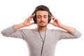 Man Listening To Music Stock Photos - 36865423