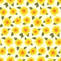 Ditsy Floral Pattern With Small Daffodils Royalty Free Stock Image - 36866326