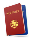 Two Passports Isolaed On White Stock Images - 36866354