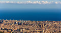 View Of Barcelona With Sagrada Familia And Torre Agbar Royalty Free Stock Images - 36874469