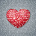 Lettering Heart Valentines Card Royalty Free Stock Images - 36877029