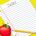 Illustration, Note Paper/School Work Royalty Free Stock Image - 36877826