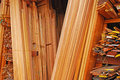 Skirting Boards, Architrave Mouldings And Wooden Frames Stock Image - 36882941