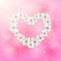 Flower Heart On Pink Background Royalty Free Stock Images - 36891929