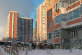 Modern Generic Apartment House In Moscow Royalty Free Stock Images - 36891979