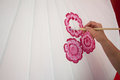 Coloring Paints Umbrella Made ​​of Paper / Fabric. Arts And Royalty Free Stock Photo - 36894735