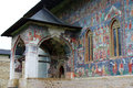 Sucevita Church Mural Paintings Icons Main Entry Stock Photography - 36902202