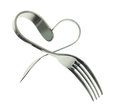 Fork And Spoon Heart Royalty Free Stock Photography - 36908467