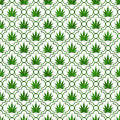 Green Marijuana Leaf Pattern Repeat Background Stock Image - 36911421