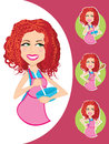 Baker Girl In Various Poses Royalty Free Stock Image - 36916696