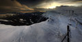 Winter Panorama From Karkonosze Mountains, Sniezka Mountain. Stock Photo - 36918030