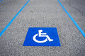 Handicapped Symbol Disabled Parking Sign Royalty Free Stock Images - 36924209