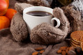 Hands Holding Hot Tea Stock Images - 36932654