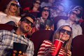 Audience Watching 3D Film At Cinema Royalty Free Stock Photos - 36937168