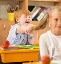 Little Redhead Schoolboy Stock Images - 36937364