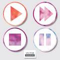 Set Of Four Icons. Web And Mobile Apps Circle Watercolor Button. Stock Images - 36943124