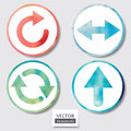 Set Of Four Icons. Web And Mobile Apps Circle Watercolor Button. Royalty Free Stock Photo - 36943125