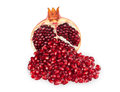 Half Of Pomegranate And Pomegranate Seeds Royalty Free Stock Images - 36949059