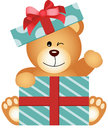 Teddy Bear In Gift Box Stock Image - 36959501